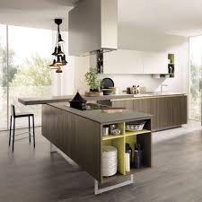 Contemporary Kitchen Awesome Contemporary Kitchen Melamine Elm Island Fi  Ain33