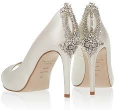 wedding shoes sparkling high heels for winter weddings inside Modern Wedding Flats freya rose astoria peep toe wedding shoe with crystal beads on back of heel \