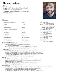 Elegant Headshot And Resume Sample Photograph Of Actor Resume With