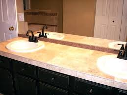 blue travertine bathroom countertops granite pros cons tile wooden and counter subway wall cabinets marble small