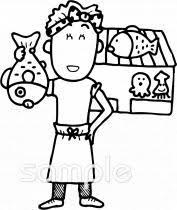 魚屋さんイラストなら小学校幼稚園向け保育園向けのかわいい無料