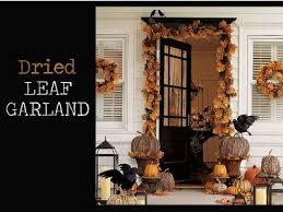 how to hang garland around front doorDIY Fall Door Decor