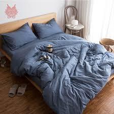 duvet comforter cover. Simple Duvet Denim Blue Grey White Green Solid Bedding Sets 100 Pure Cotton Duvet  Comforter Cover Set In Duvet Comforter Cover L