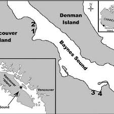Denman Island Tide Chart Location Of Vancouver Island Within Canada Top Inset And