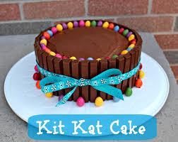 Absorbing Easy Birthday Cake Idea Kit Kat Cake Easy Triceras