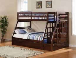 full bunk beds with stairs. Delighful Full Jason Espresso Finish Wood Twin Over Full Bunk Bed Set With Stair Case On  The End With Full Bunk Beds Stairs E