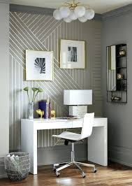 office wallpaper design. wallpaper accent wall linear accentuates this home tiny office nook design