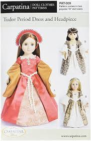 American Girl Clothes Patterns Delectable Amazon Pattern For Tudor Dress Fits 48 American Girl Dolls