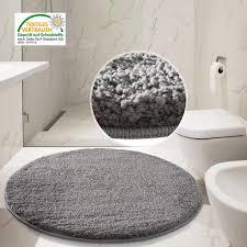 brilliant round grey bathroom rugs design
