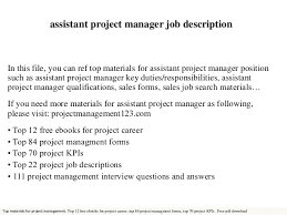 assistant project manager job description in this file you can ref top materials for assistant assistant project manager job description