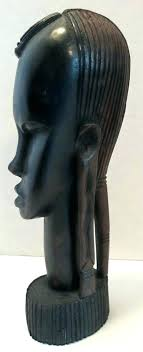 statues wood carvings vintage carved ebony sculpture statue tribal woman bust african about