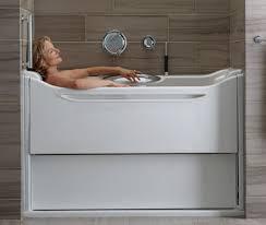 kohler elevance tub easy access bathtubs rising wall bath 1 wonderful damasseter com
