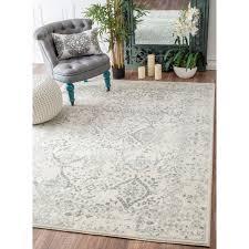 dazzling 8 10 rug for your interior flooring decor nuloom vintage fl ornament ivory