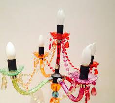 Bunter Kronleuchter Lampe Stehlampe