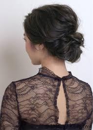 結婚式お呼ばれヘアアレンジシンプルで上品なミディアムの髪型hair