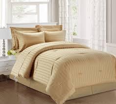 3 piece queen damask stripe 500 thread count cotton comforter set taupe