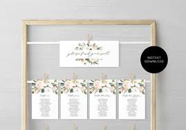 Blush Magnolia Seating Chart Seating Chart Template