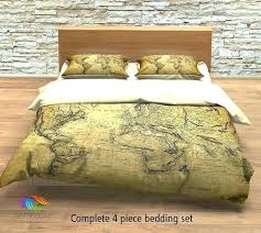 world map bedding comforter vintage old duvet cover antique new uk australia