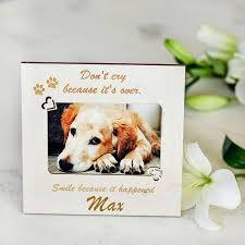 pet memorial personalised photo frame