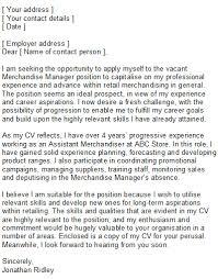 Merchandise Associate Cover Letter Sarahepps Com