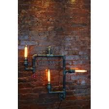 industrial pipe lighting. Steampunk 3-Light Industrial Pipe Wall Light Lighting N