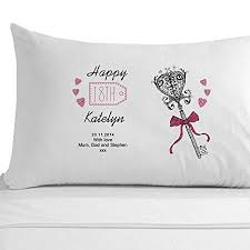 personalised 18th birthday pillowcase s 18th 18th birthday key 18th gifts for s