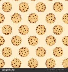Cookies By Design Plano Seamless Background With Chocolate Cookies Vector