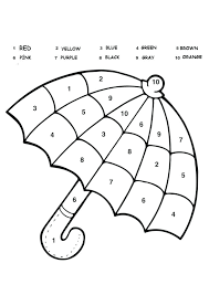 Winter Color By Number Addition Plane Worksheet Crafts And