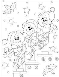 Disegno Di Orsi Carini Con Le Calze Di Natale Da Colorare Disegni