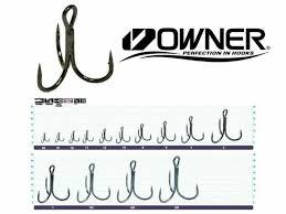 Owner Stinger 36 Treble Hook No 4 Fishing Hooks