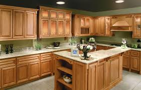 kitchen colors with honey oak cabinets islands carts bakewar