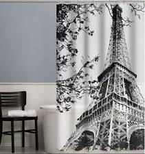 black and white shower curtains. Paris France Eiffel Tower Black \u0026 White Shower Curtain, PEVA,Size:70 And Curtains