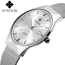aliexpress com buy men s quartz watch watches men date quartz aliexpress com buy men s quartz watch watches men date quartz watch stainless steel mesh strap ultra thin dial clock relogio masculino from reliable mesh