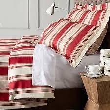 canon cotton red stripe duvet cover