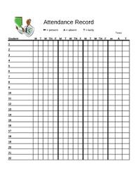 Attendence Tracker Attendance Tracker Chart