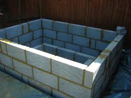 outside walls made from breeze blocks