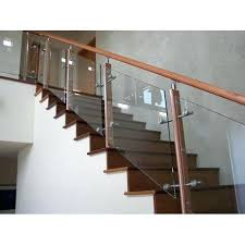 indoor glass railing incredible wooden glass railing glass staircase railing home tools regarding glass stair railing