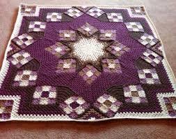 927 best Crochet & Me images on Pinterest | Beanie hats, Christmas ... & Blue Star afghan - Free Pattern. Crochet ... Adamdwight.com