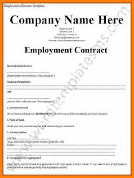 5+ Employment Contract Template Free Download | Bike Friendly Windsor
