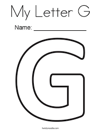 letter g my letter g coloring page twisty noodle