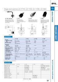 ls 77700 series single point level switch gems sensors ls 77700 series single point level switch 1 1 pages