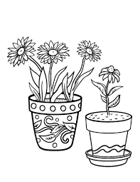 Small Picture Printable flower pot coloring page Free PDF download at http