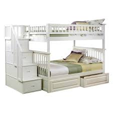 Atlantic Furniture Columbia Staircase Full Over Full Bunk Bed | Hayneedle