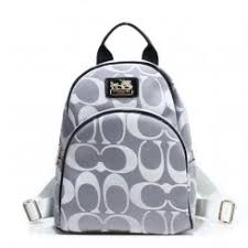 Coach Logo Monogram Small Grey Backpacks Outlet Free Shipping