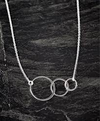 love this sterling silver triple circle pendant necklace