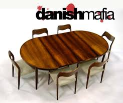 danish modern brazilian rosewood gudme dining table