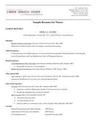 Classy Nursing Extern Resume Examples On Nurse Templates For