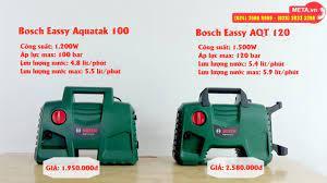 So sánh tính năng, công suất, áp lực phun máy rửa xe Bosch AQT 100 và Bosch  AQT 120 - YouTube