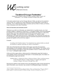 Turabianchicago Footnotes