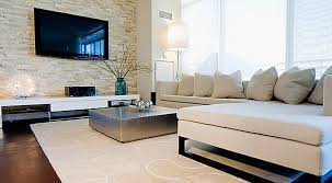 modern living room white. Mesmerizing Images Of Living Room Decoration With Various Stone Wall : Interesting Modern White